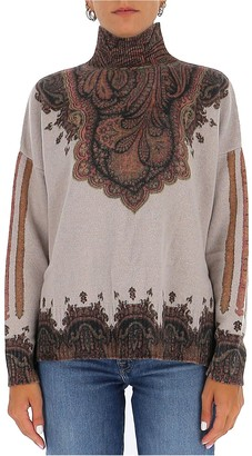 Etro Paisley Patterned High Neck Sweater
