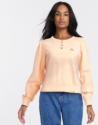 Blend She button up sweater in pink