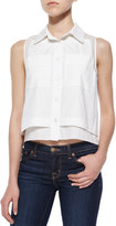 Parker Norway Sleeveless Combo Blouse, White