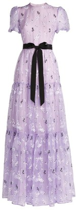 Erdem Willow Daisy Embroidered Triin Gown