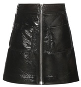 Miu Miu Faux Leather Miniskirt