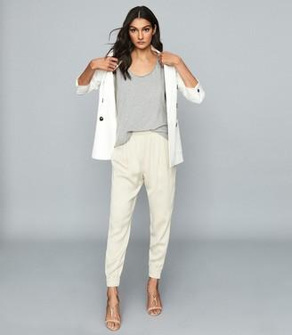 Reiss Brie - Cotton-jersey Vest Top in Grey Marl