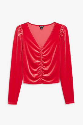 Monki Shirred front top