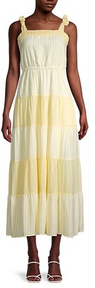Gal Meets Glam Tiered Striped Maxi Sundress