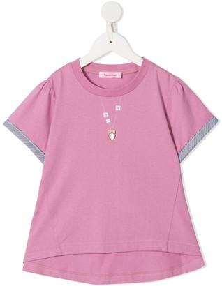 Familiar heart embellished T-shirt