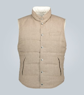 Brunello Cucinelli Reversible down-filled gilet