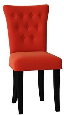 Poshbin Stella Side Chair Poshbin Body Fabric: Bella Berry, Leg Color: Black