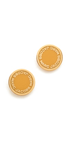Marc Jacobs Enamel Logo Disc Stud Earrings