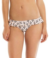 Tori Praver Seafoam Women's Ruffle Bikini Bottom Cream Ikat