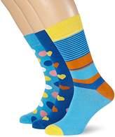 My Way Men's Heart Socks,Size 6-8 pack of 3