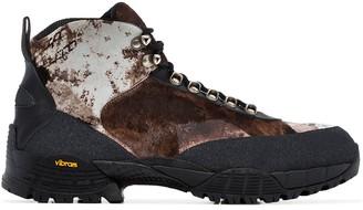 Alyx camouflage pony hiking boots