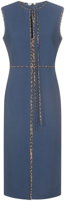 Fendi Sleeveless Ff Split Dress