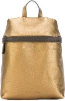 Brunello Cucinelli metallic backpack - women - Leather - One Size