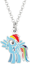 My Little Pony Rainbow Dash Silvertone Pendant Necklace