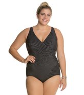 Miraclesuit Plus Size Pin Point Oceanus One Piece Swimsuit 8123682