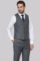 Savoy Taylors Guild Regular Fit Grey with Lilac Check Waistcoat