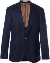 Brunello Cucinelli one button blazer - men - Silk/Cupro/Cashmere - 50