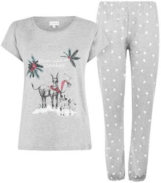 Linea Christmas Donkey Pyjama Set