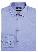 Theory Oxford Textured Stretch Slim Fit Dress Shirt