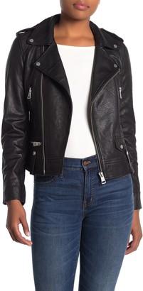 Bagatelle Beltless Leather Moto Jacket