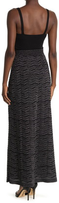 Missoni Metallic Chevron Knit Maxi Skirt