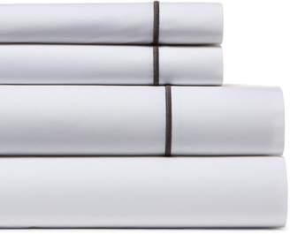 Frette One Bourdon White & Grey Sheet Set
