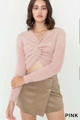 Love Tree Fuzzy Twist Sweater