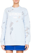 Givenchy Destroyed Logo Pullover Sweatshirt