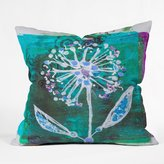 DENY Designs Elizabeth St. Hilaire Nelson Dandelion Blooms Throw Pillow, 16 by 16-Inch