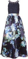 Xtraordinary Big Girls 7-16 Lace-To-Floral Long Dress