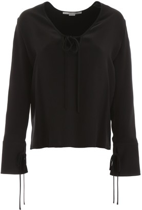 Stella McCartney Tie Fastening Long Sleeve Blouse