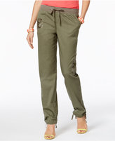INC International Concepts Embroidered Curvy-Fit Cargo Pants, Created for Macy's
