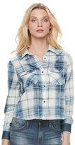 Rock & Republic Women's Crop Plaid Shirt