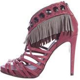 Christian Dior Fringe Embellished Sandals