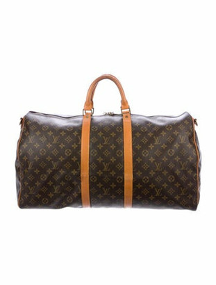 Louis Vuitton Vintage Monogram Keepall Bandouliere 55 Brown