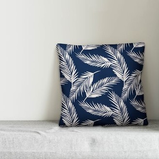"""Bay Isle Home Nels Palms Floral 18"""" Throw Pillow"""