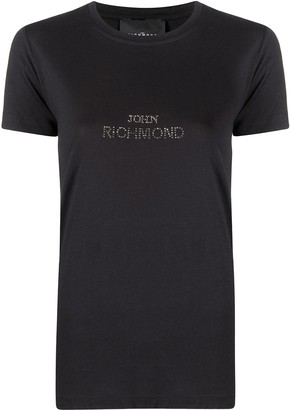 John Richmond embellished logo T-shirt