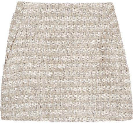 Theyskens' Theory Sonet tweed A-line mini skirt