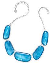 Charter Club Large Shell-Finish Stone Statement Necklace, Only at Macy's