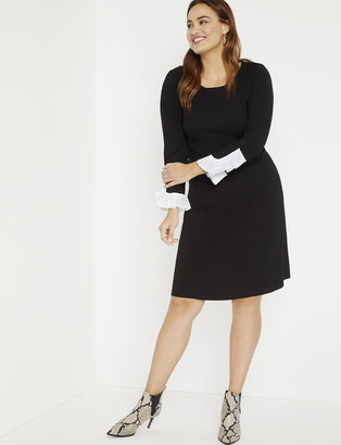 ELOQUII Aline Dress with Sleeve Detail
