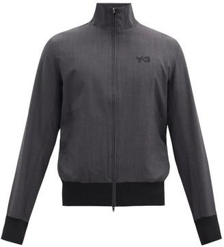 Y-3 Logo-print Wool-blend Track Jacket - Grey