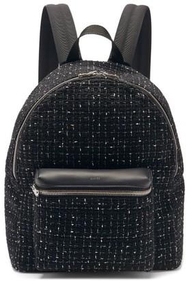 Amiri Leather-trimmed Boucle Backpack - Black
