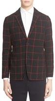 TOMORROWLAND Windowpane Check Cardigan Jacket