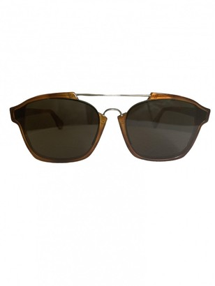 Christian Dior Abstract Camel Plastic Sunglasses