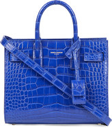 Saint Laurent Nano alligator-leather tote