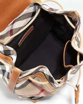 Burberry Girls' Check Backpack, Saddle Brown