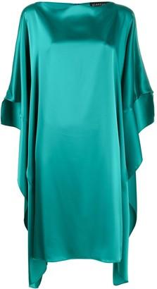 Gianluca Capannolo Ruffle-Sleeve Satin Silk Dress
