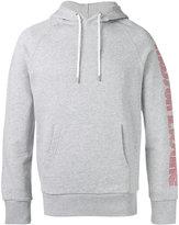 MAISON KITSUNÉ sleeve print hoodie - men - Cotton - M