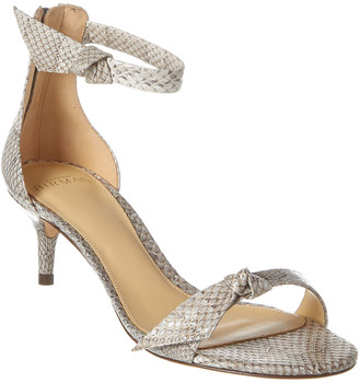 Alexandre Birman Clarita 50 Croc-Embossed Leather Sandal