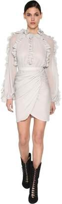 Giambattista Valli Ruffled Silk Georgette Midi Dress